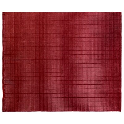 Mini Bars Red Area Rug Rug Size: 8 x 10