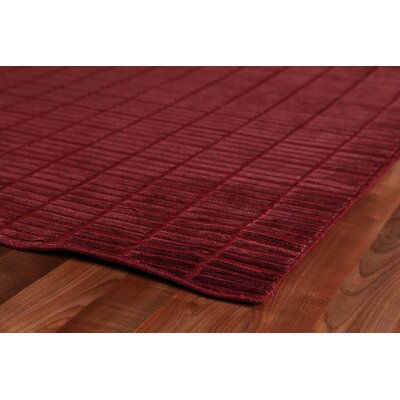 Mini Bars Hand Woven Silk Red Area Rug Rug Size: Rectangle 9 x 12