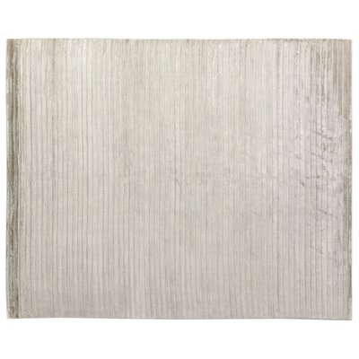 Wave Light Silver Area Rug Rug Size: 8 x 10