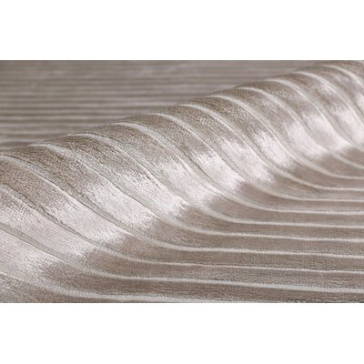 Wave Hand Woven Silk Silver Area Rug Rug Size: Rectangle 5 x 8