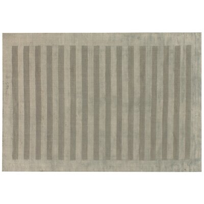 Panel Stripes Dark Gray Area Rug Rug Size: 10 x 14
