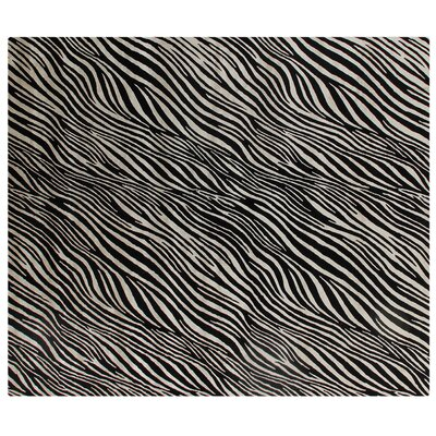 Modern Wilderness Black/White Area Rug Rug Size: 9 x 12