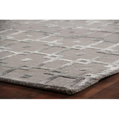 Metro Velvet Hand-Knotted Wool Gray Area Rug