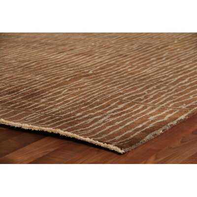 Metropolitan Hand-Knotted Wool Brown Area Rug Rug Size: Rectangle 6 x 9