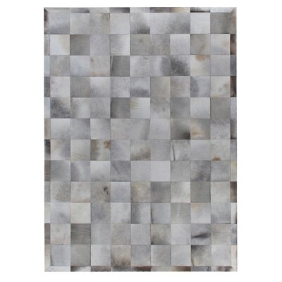 Natural Hide Hand Crafted Silver Area Rug