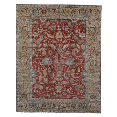 Serapi Red/Gold Area Rug Rug Size: 9 x 12