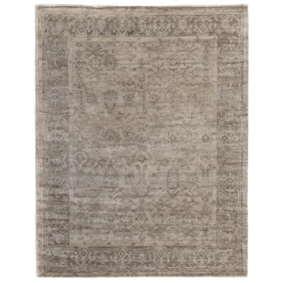 Hand-Knotted Beige Area Rug Rug Size: 8 x 10