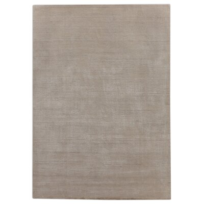 Hand-Loomed Light Gray Area Rug Rug Size: 8 x 10