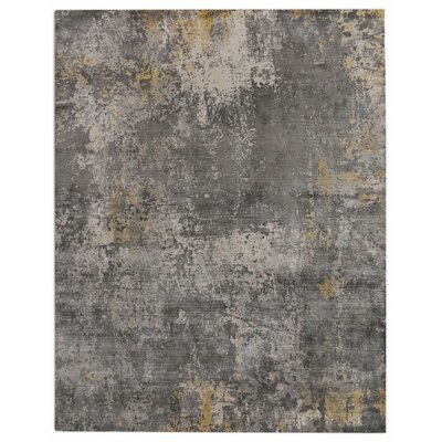 Hand-Loomed Silver/Gray Area Rug Rug Size: 8 x 10
