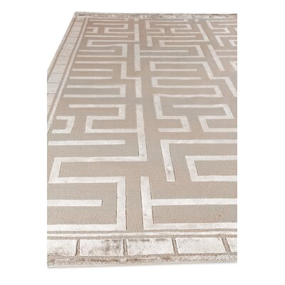 Moreno Hand-Knotted Gold/Ivory Area Rug