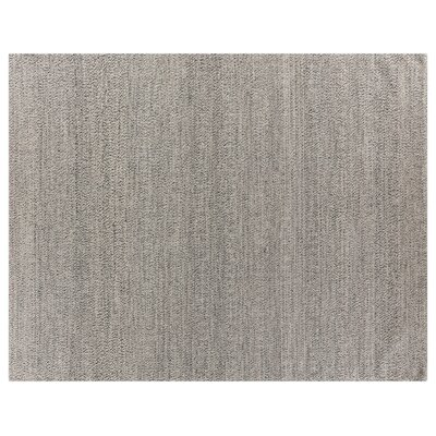 Hand-Woven Silver Area Rug Rug Size: 10 x 14