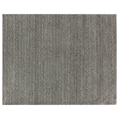 Hand-Woven Black Area Rug Rug Size: 6 x 9
