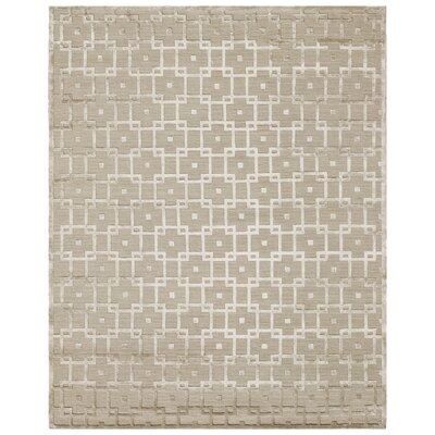 Metro Hand Woven Silk Beige Area Rug Rug Size: Rectangle 14 x 18