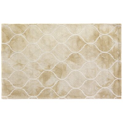 Dip-Dye Hand-Tufted Light Brown Area Rug Rug Size: 96 x 136