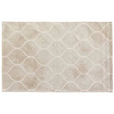 Dip-Dye Hand-Tufted Light Brown Area Rug Rug Size: 5 x 8