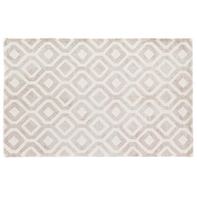 Dip-Dye Hand-Tufted Beige Area Rug Rug Size: 96 x 136