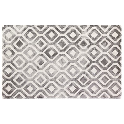 Dip-Dye Hand-Tufted Charcoal Area Rug Rug Size: 12 x 15