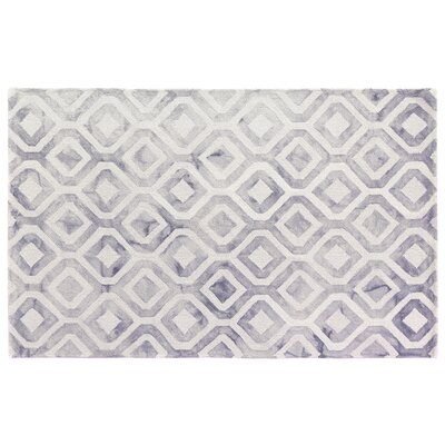 Dip-Dye Hand-Tufted Blue/Black Area Rug Rug Size: 96 x 136
