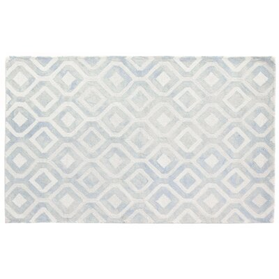 Dip-Dye Hand-Tufted Light Blue Area Rug Rug Size: 12 x 15