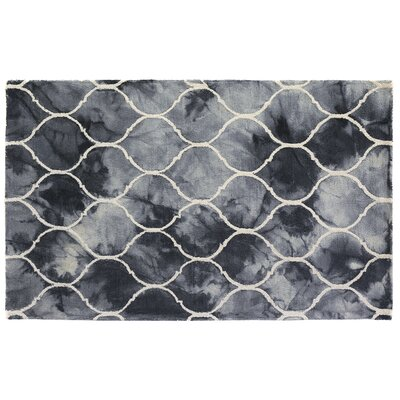 Dip-Dye Hand-Tufted Blue Area Rug