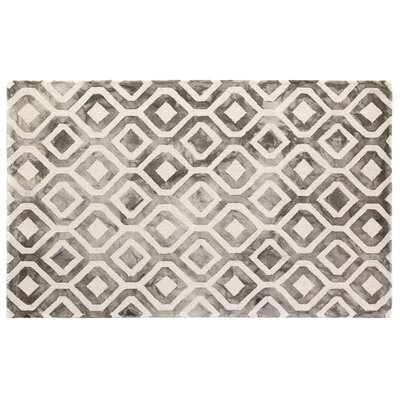 Dip-Dye Hand-Tufted Charcoal Area Rug