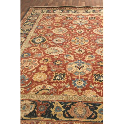 Fine Serapi Hand-Knotted Red/Blue Handmade Area Rug