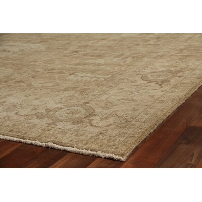 Fine Serapi Knotted Brown/Beige Handmade Area Rug