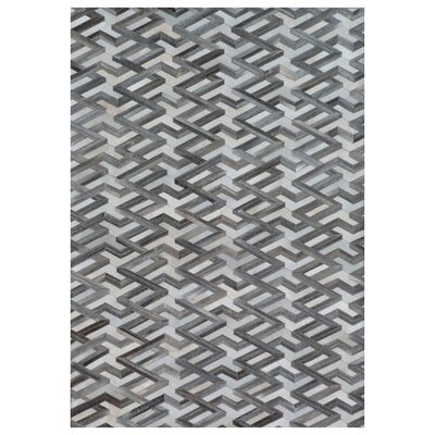 Natural Hide Hand-Woven Cowhide Gray Area Rug