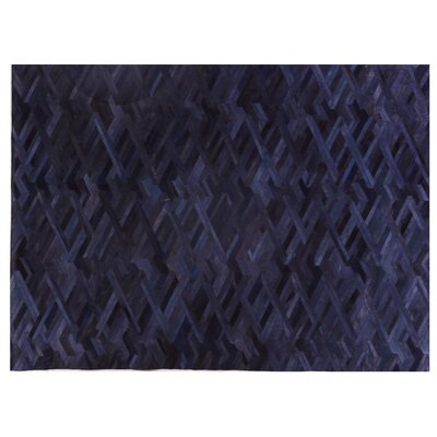 Natural Hide Hand Crafted Blue Area Rug
