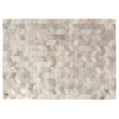 Silver Area Rug Rug Size: 136 x 176