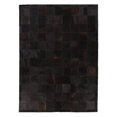 Natural Hide Hand Crafted Black Area Rug