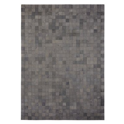 Natural Hide Hand Crafted Gray Area Rug