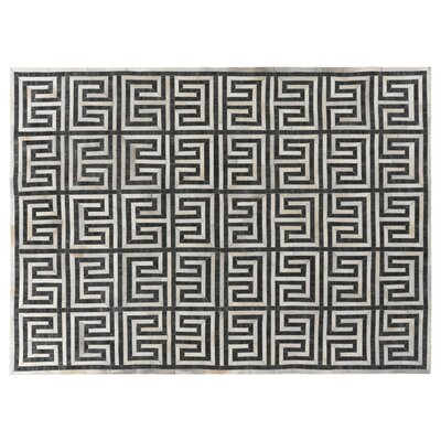 Charcoal/Ivory Rug Rug Size: Rectangle 136 x 176
