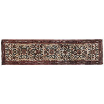 Ferahan Hand-Knotted Wool Ivory/Red Area Rug