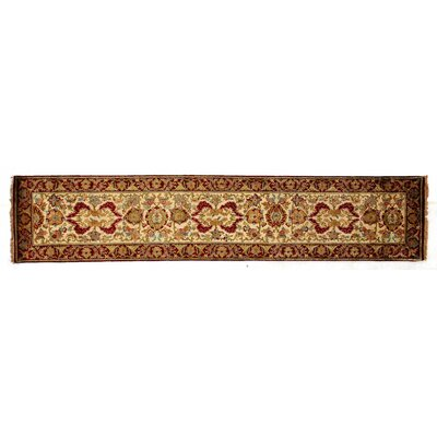 Super Lavar Hand-Knotted Wool Ivory/Red Area Rug