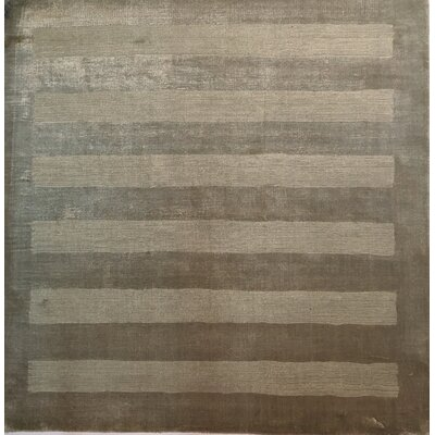 Wide Stripe Light Beige Area Rug