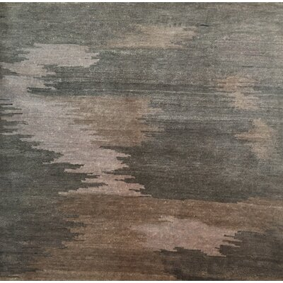 Hand-Knotted Light Silver/Brown Area Rug