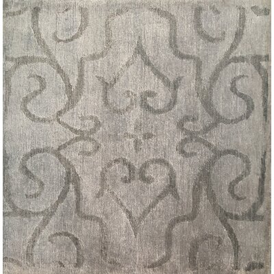 Hand-Knotted Light Silver Area Rug