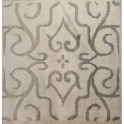 Hand-Knotted Ivory/Light Gray Area Rug