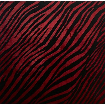 Metro-Velvet Hand-Knotted Black/Red Area Rug