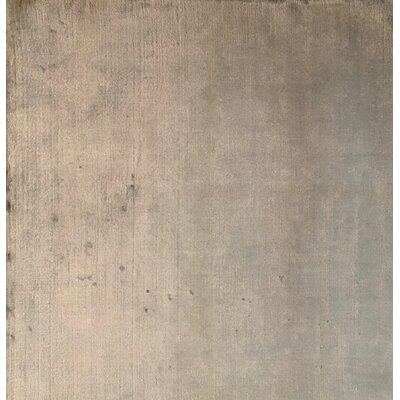 Plain Hand-Knotted Silver Area Rug