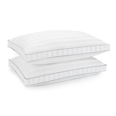 400 Thread Count Bed Gel Fiber Pillow Size: 18 x 34 W x 1.5 D