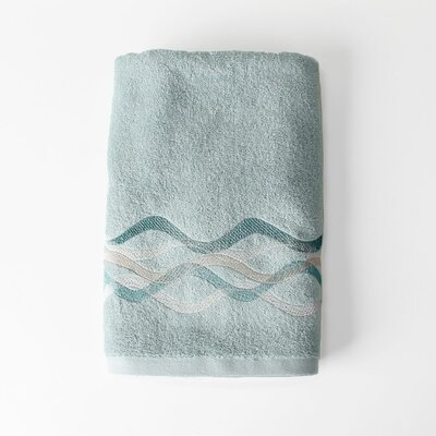 Sketchbook Waves Bath Towel Color: Teal