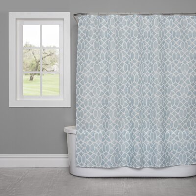 Watercolor Lattice Shower Curtain
