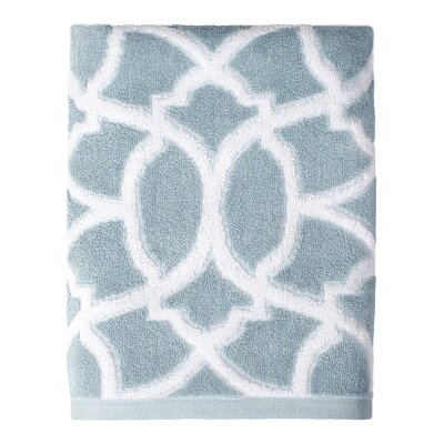 Watercolor Lattice Bath Towel