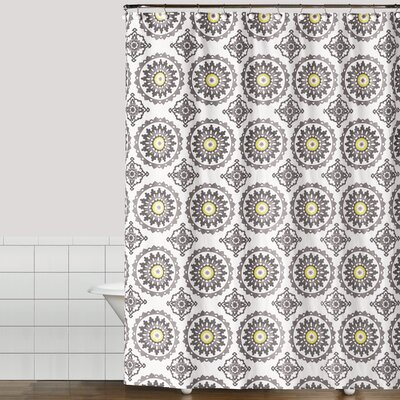 Suzette Cotton Shower Curtain Color: Yellow
