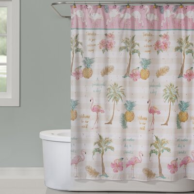 Flamingo Garden Shower Curtain