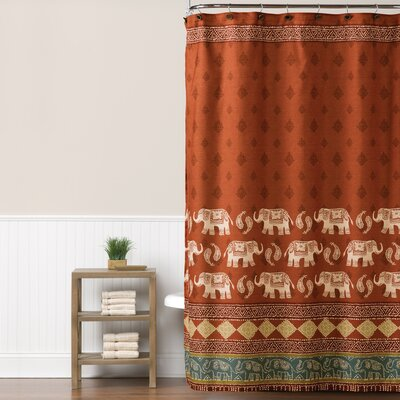 Caravan Elephant Shower Curtain