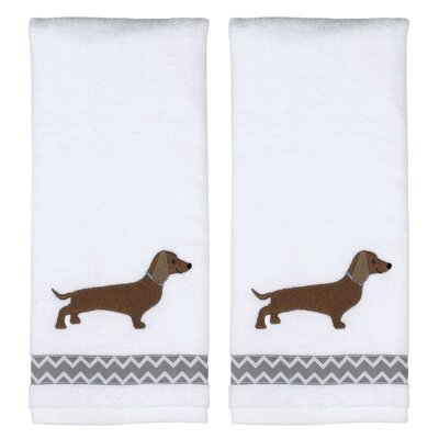 Caballero White Cotton Hand Towel