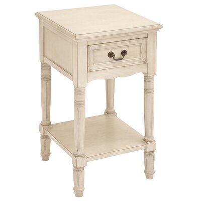 Morel 1 Drawer Nightstand Finish: Antique White